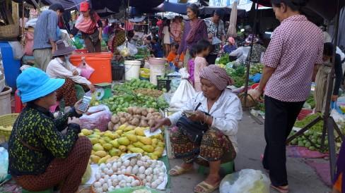 kambodža, trh, jedlo, ázia, cestovanie