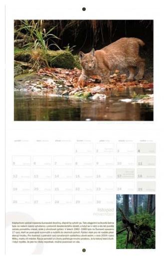 Kalendář šumavské přírody na rok 2012
